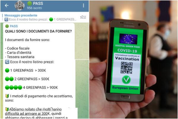 Green pass falsi su Telegram, pacco e doppio pacco per i furbetti