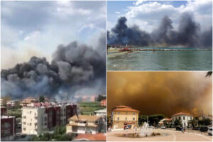 Inferno di fuoco a Pescara, feriti e bagnanti in fuga: in ospedale bambina e due suore