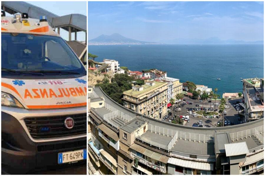 """Giovane precipita per 40 metri a Posillipo, l'ambulanza vola in ospedale: """"E' vivo"""""""