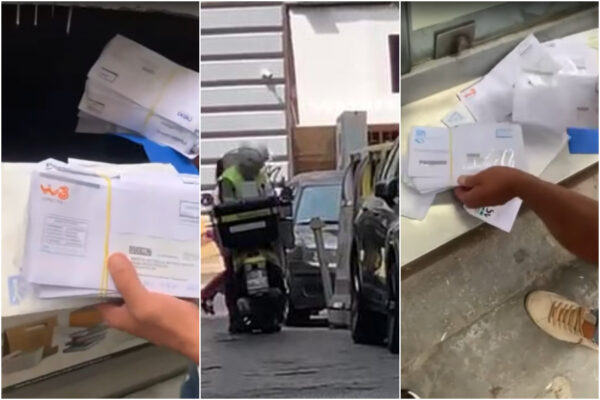 Postino getta le lettere nella spazzatura, un video lo inchioda: denunciato