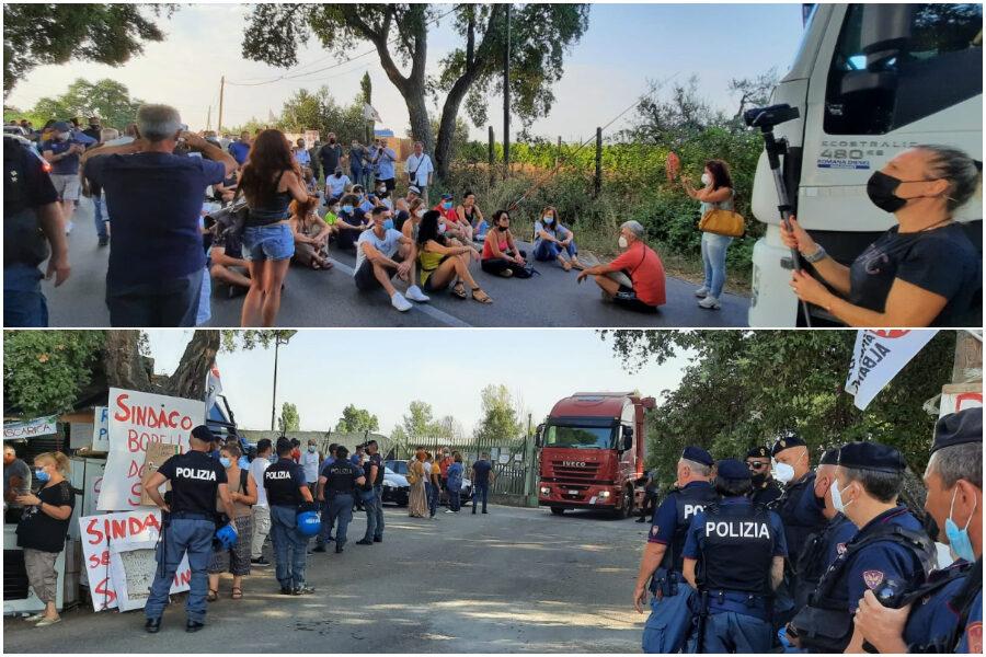 Le proteste (Foto Associazione Salute Ambiente Albano)
