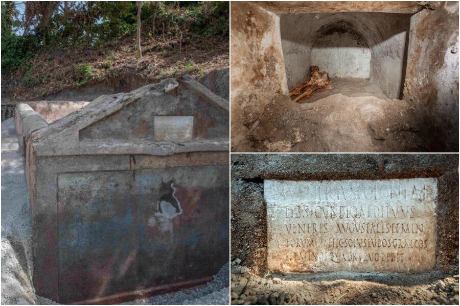 """Pompei, dagli scavi emerge una tomba unica con un corpo semi mummificato: """"Primo riferimento all'uso del greco a teatro"""""""