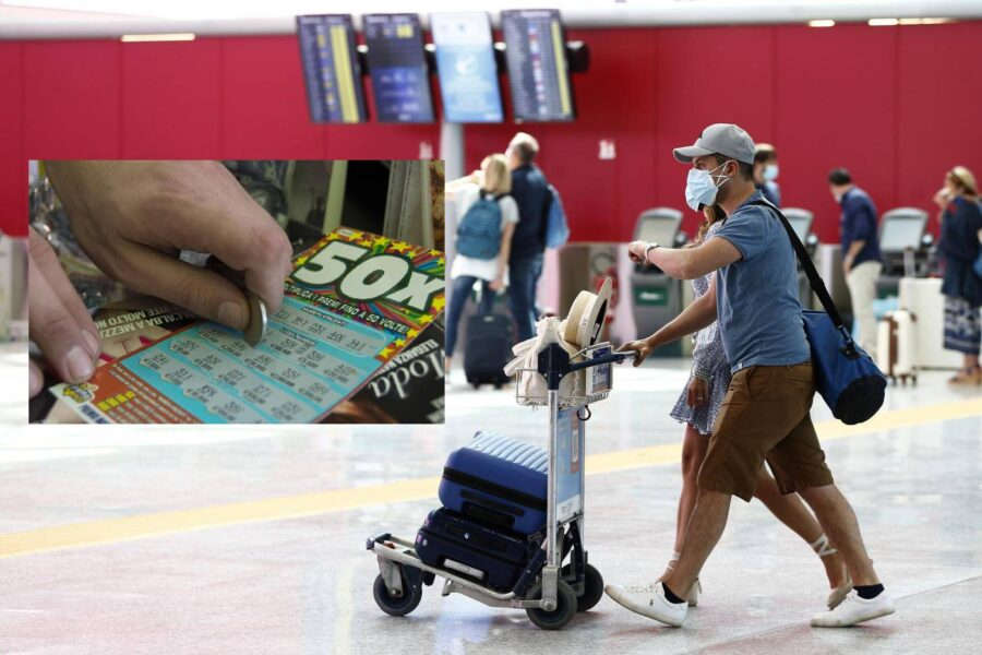 """Tabaccaio in fuga col Gratta e vinci da 500mila euro, bloccato in aeroporto: """"Partiva per le Canarie"""""""