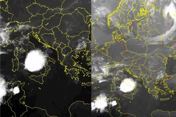 Ciclone mediterraneo colpisce la Campania, immagini satellitari impressionanti