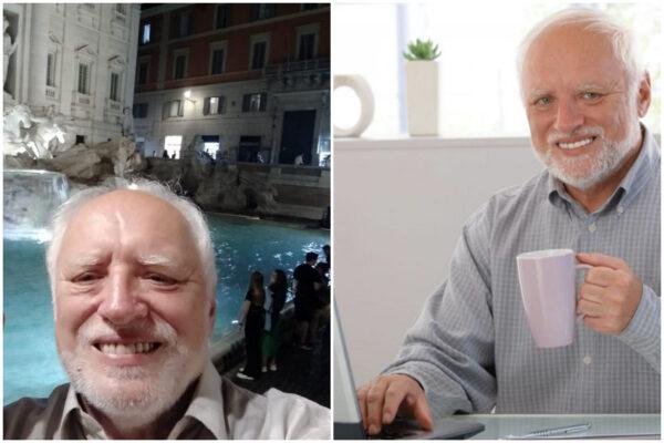 """András Arató, il meme vivente in vacanza a Roma: """"Sono venuto a lavorare per due giorni"""""""