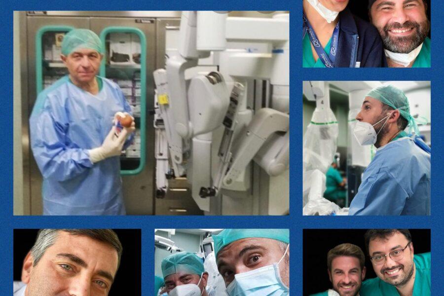 Corso di urologia robotica, la sala operatoria del Pascale diventa aula di scuola