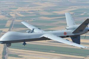 MQ-9A Predator B in volo  in dotazione al 32esimo stormo dell'Aeronautica Militare – Ministero della Difesa