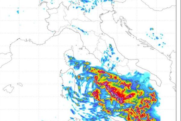Vortice mediterraneo in arrivo sul Sud Italia, piogge e venti sulla Campania