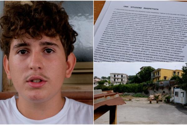 """""""Casa era il mio posto sicuro, ora non c'è più"""": in un tema a scuola Castrese racconta il suo dramma"""