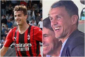 Dinastia Maldini, Daniel in gol al debutto da titolare con il Milan: la gioia di papà Paolo in tribuna