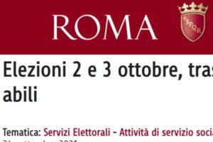 """Elezioni Roma """"il 2 e 3 ottobre"""": la gaffe del Comune per il trasporto al seggio dei disabili"""