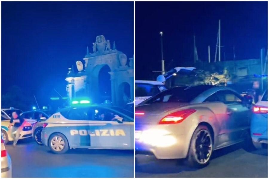 Fast and Furious sul lungomare di Napol, auto danneggia taxi e sperona volanti: poi lo schianto