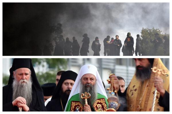 Montenegro, scontri tra nazionalisti e polizia all'insediamento del metropolita