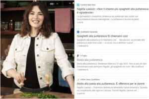 Spaghetti alla puttanesca, ultima crociata dei giornali italiani sulla 'cancel culture': il caso Nigella Lawson che imbarazza la stampa