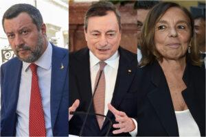 Draghi dà una sberla a Salvini e blinda Lamorgese