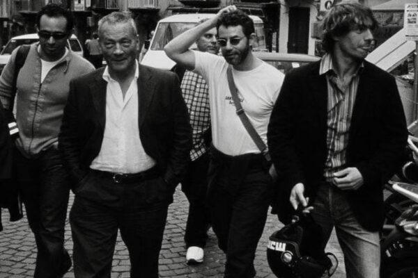 Foto di Francesco Patierno (da sinistra a destra: Marco Ottaiano, Tullio Pironti, Francesco Patierno, Giorgio Pasotti)