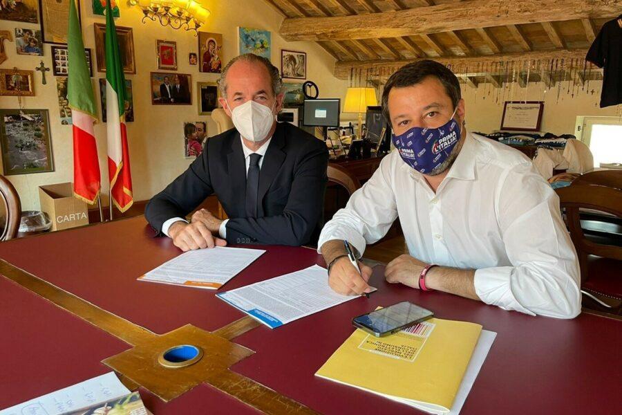 Salvini, nella Lega è fronda contro il 'Capitano': sul Green Pass Zaia apre la battaglia per la leadership