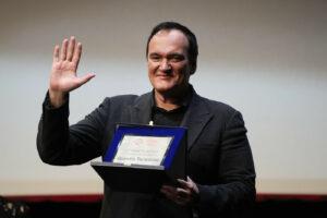 """Quentin Tarantino premio alla carriera alla Festa di Roma: """"Il cinema è più vivo che mai"""""""