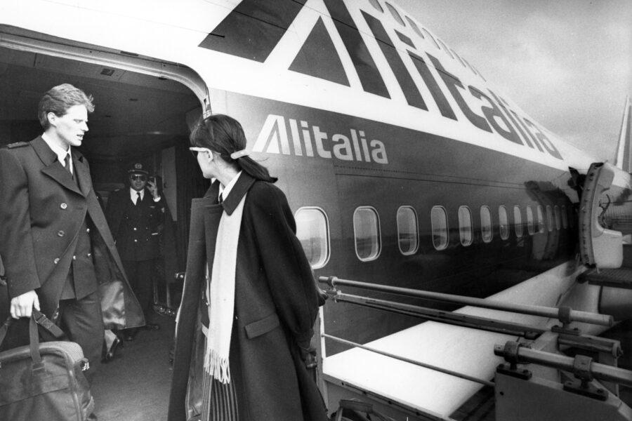 archivio storico nella foto: Aerei Compagnie Alitalia