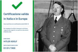Anche Adolf Hitler ha il Green Pass, rubate le chiavi per generare i QR code: ora l'Europa ha un problema