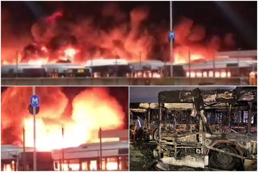Inferno Atac: il maxi incendio nel deposito di Tor Sapienza divora 26 autobus, trovate tracce d'innesco