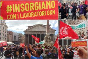 """Manifestazione Gkn a Roma, 200 tute blu in piazza: """"Vogliono lasciare un cimitero al posto dell'azienda"""""""