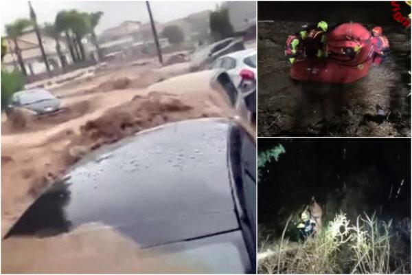 Il maltempo colpisce Sicilia e Calabria, strade allagate: coppia dispersa, trovato morto il marito
