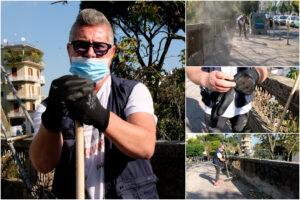"""""""Prendo il reddito di cittadinanza e per questo voglio essere utile"""", così Polo da volontario pulisce le strade di Napoli"""
