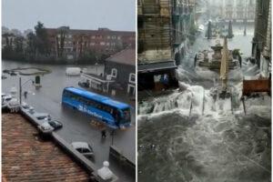 Violentissimo nubifragio a Catania, piazze e strade allagate: morto 53enne travolto dall'acqua