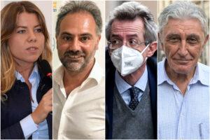 Da sinistra: Alessandra Clemente, Catello Maresca, Gaetano Manfredi e Antonio Bassolino