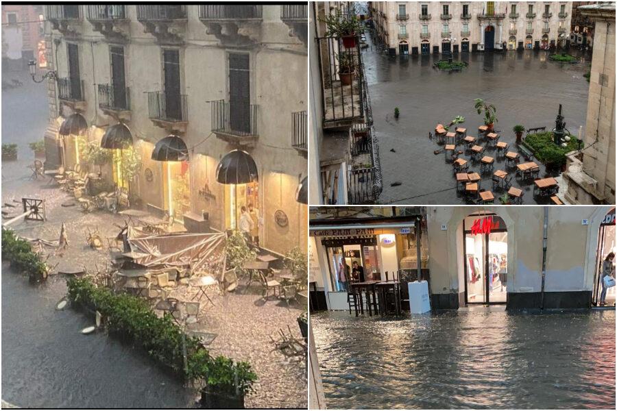 """Tornado si abbatte su Catania, gravi danni a case e negozi: """"Ci sono feriti"""""""