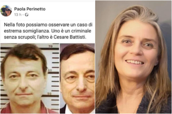 """Draghi come Cesare Battisti, per la garante dei detenuti (no Green pass) di Ivrea il premier è """"un criminale"""""""