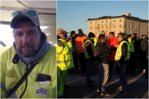 """Portuali di Trieste, la protesta va avanti: """"Non abbiamo nessuna intenzione di mollare"""""""
